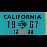 1967 California Sticker