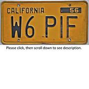 California Ham Radio License Plate 1956