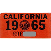 Old California Sticker 1965