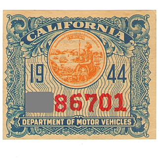 1944 California Sticker