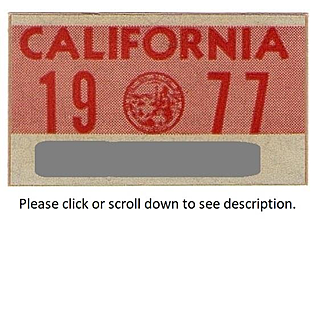 1977 California Sticker