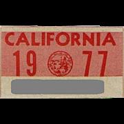 1977 California Sticker