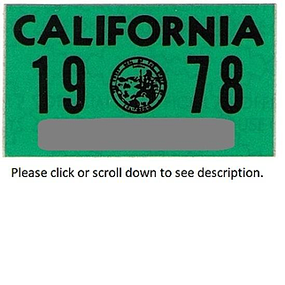 Old California Sticker 1978