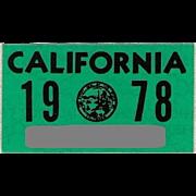 Old California Sticker 1978