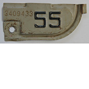 California License Plate Tab 1955