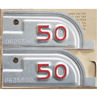1950 California License Plate Tabs