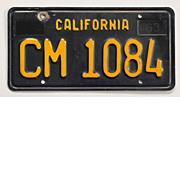 Black California Trailer License Plate, 1963-1969