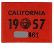 Vintage California Sticker 1957