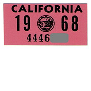 1968 California Sticker