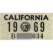 Old 1969 California Sticker
