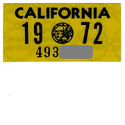 Old 1972 California Sticker