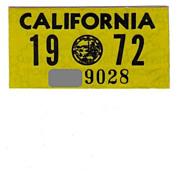 California Sticker 1972