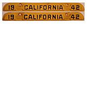Old California License Plate Tabs 1942