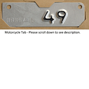 1949 California Motorcycle Tab