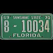 1969 Florida License Plate