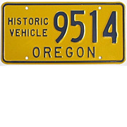 Oregon Historical Vehicle License Plate, 1970's-1980's