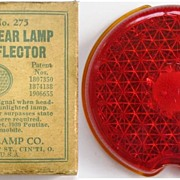 K-D Lamp Co., Triflex Rear Lamp Lens Reflector for 1939 Chevrolet, 1939 Pontiac; 1937 Oldsmobile, Model No. 275