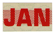 Red Month Sticker California January