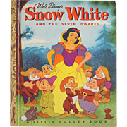 Snow White and the Seven Dwarfs Disney Book 1948