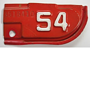 Old California License Plate Tab 1954