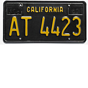 Black California License Plate, 1963 Trailer