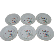 Six Meissen Kakiemon Porcelain Bowls with Gilt Highlights 19th c.