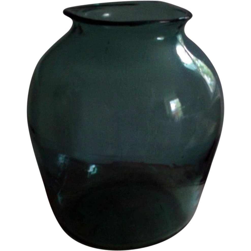 Giant Antique 19th century American Blown Glass Vase
