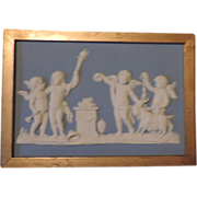 Antique 18th century Wedgwood Light Blue Jasperware Plaque - Sacrifice to Hymen by John Flaxman