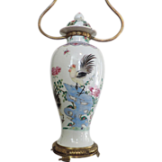Antique 19th c. Chinese Export Porcelain Vase as Lamp