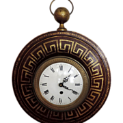 Fine Charles X Antique French Tole Cartel Clock - Early 19th century