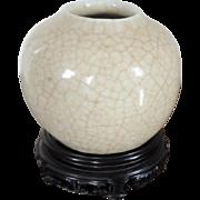 Small Antique 18th century Chinese Porcelain Crackle Glaze Vase