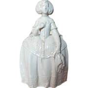 Antique 19th century English Pottery Figure of an Elizabethan Woman