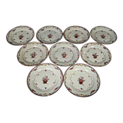 Set late 18th / early 19th century Chinese Export Porcelain Famille Rose Dinner Plates