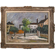 Wallace Hendon Smith (1901 - 1990) Oil Painting on Canvas - Street Scene