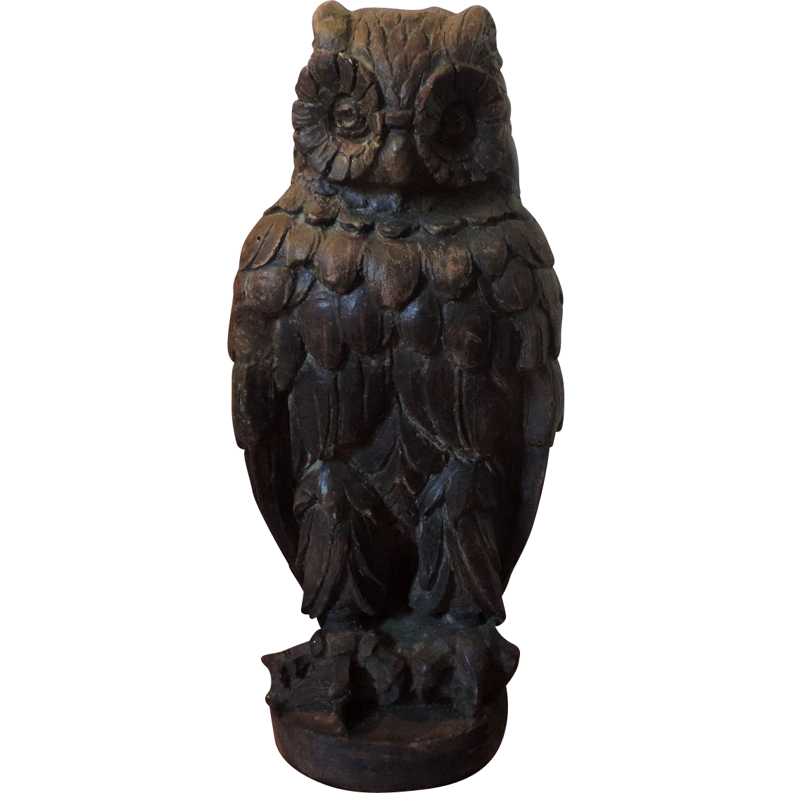 Ornamental owls for garden - Architectural Element Roof Ornament Terra Cotta Owl Garden Statue