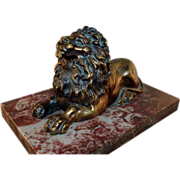 19th c. Regency Bronze Model of the Trafalgar Lion