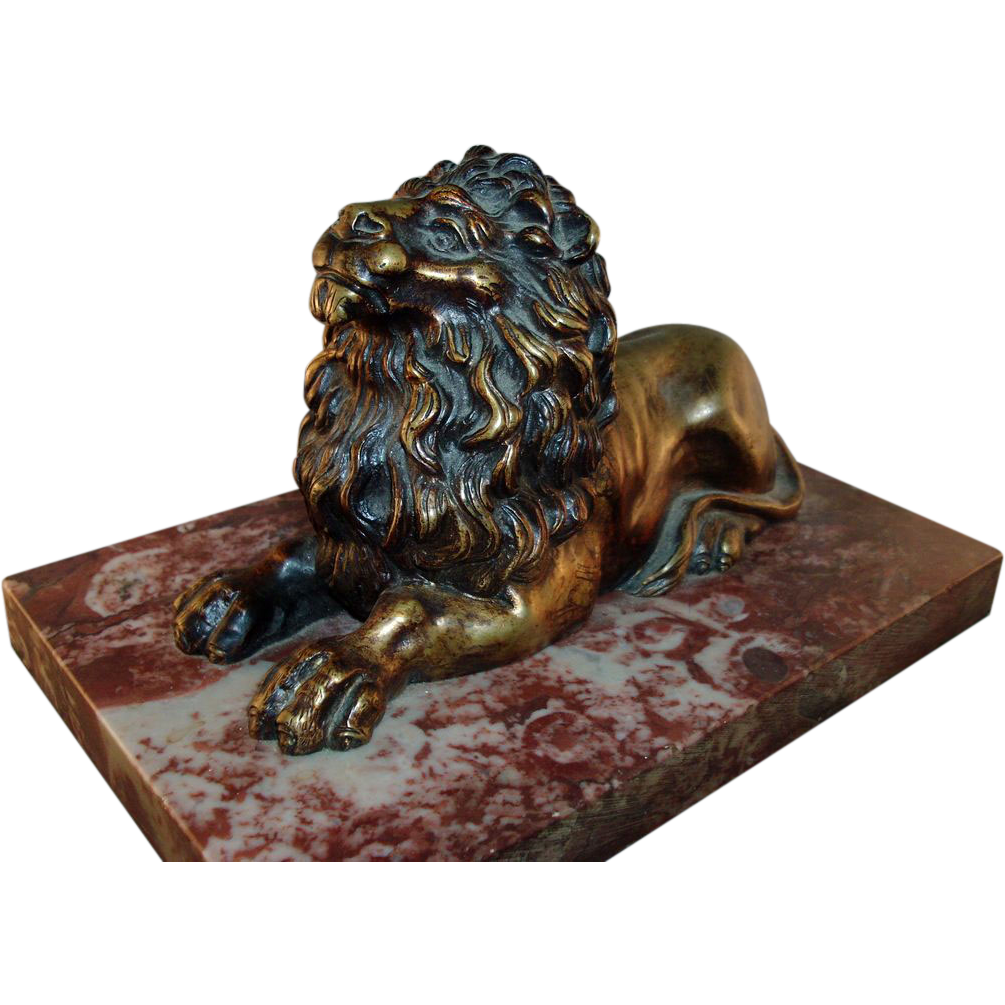 19th c. Regency Bronze Model of the Trafalgar Lion