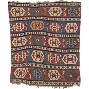 Antique 19th century South Caucasian Kilim Carpet