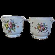 Pair Antique 18th century Louis XVI Sevres Porcelain Bottle Coolers 1775