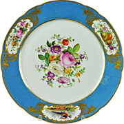 Antique 18th century Rue Thiroux Queen's Factory Old Paris Porcelain Plate in the Sevres Manner