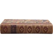 China Pictorial, Descriptive, and Historical 1853, Henry G. Bohn: London, First Edition Leather Binding with Woolworth Provenance 19th c.