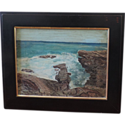 American Impressionist Sea Scape Oil Painting Monhegan Maine