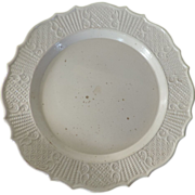 Antique 18th century English Salt Glaze Plate