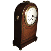 Antique Edwardian Mahogany Mantel Carriage Clock in the Regency Taste
