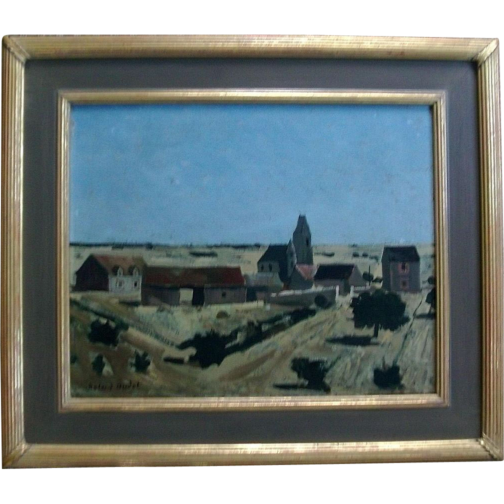 Roland Oudot French Oil Painting on Board of the Countryside