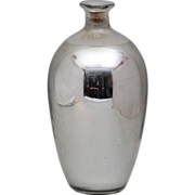 Antique 19th century Mercury Glass Vase with Original Cork Stopper