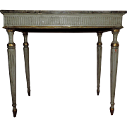 Pair Antique 19th century Continental Paint Decorated Console Tables in Faux Stone
