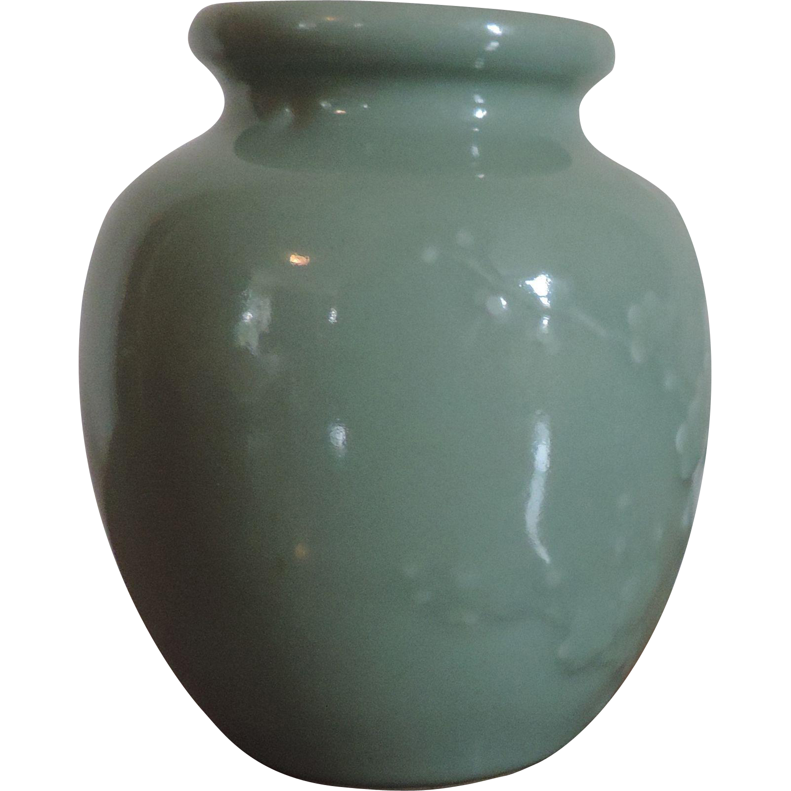 antique 19th century chinese celadon porcelain jar or vase