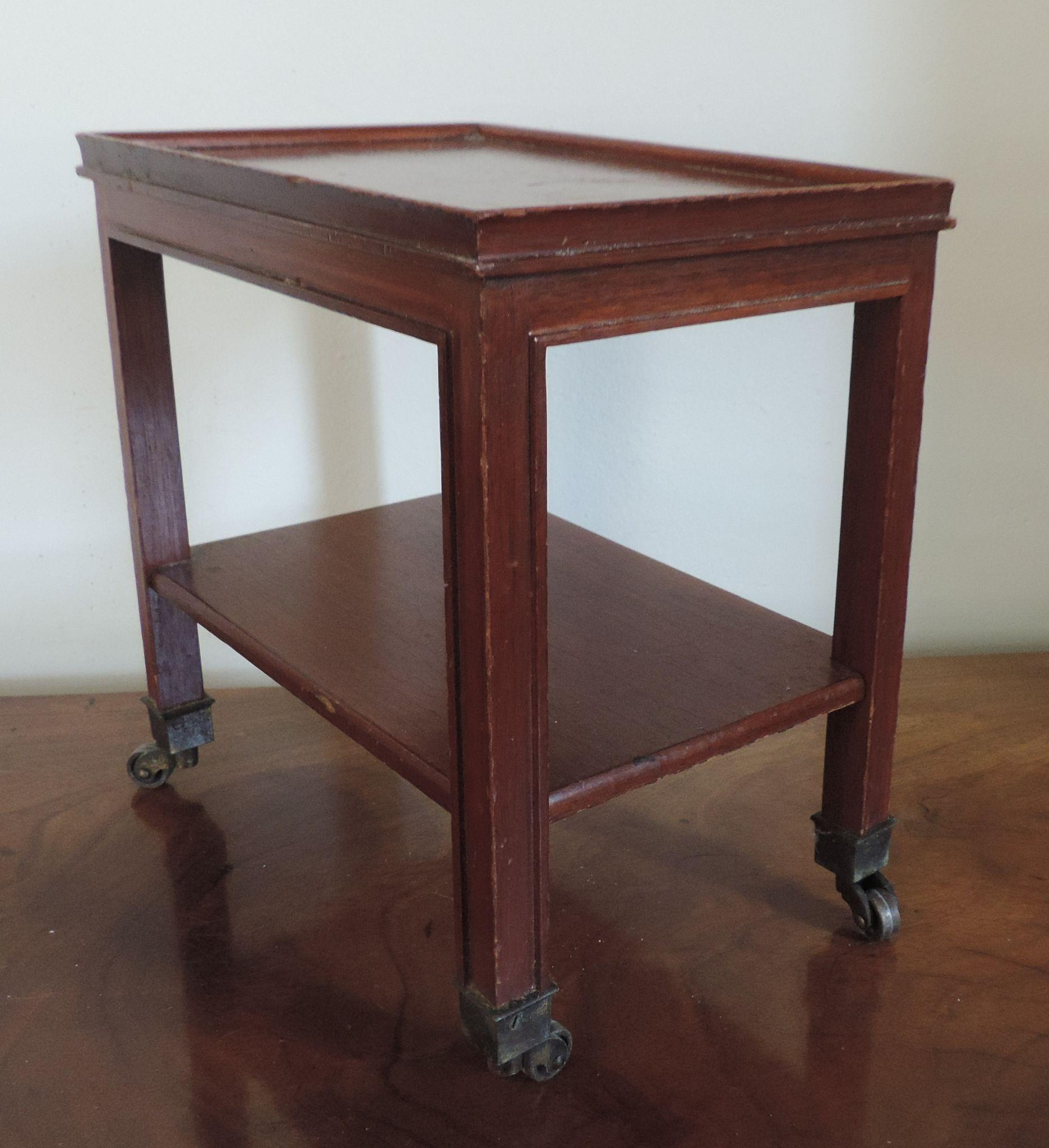 Small Mahogany Two Tier Occasional Side