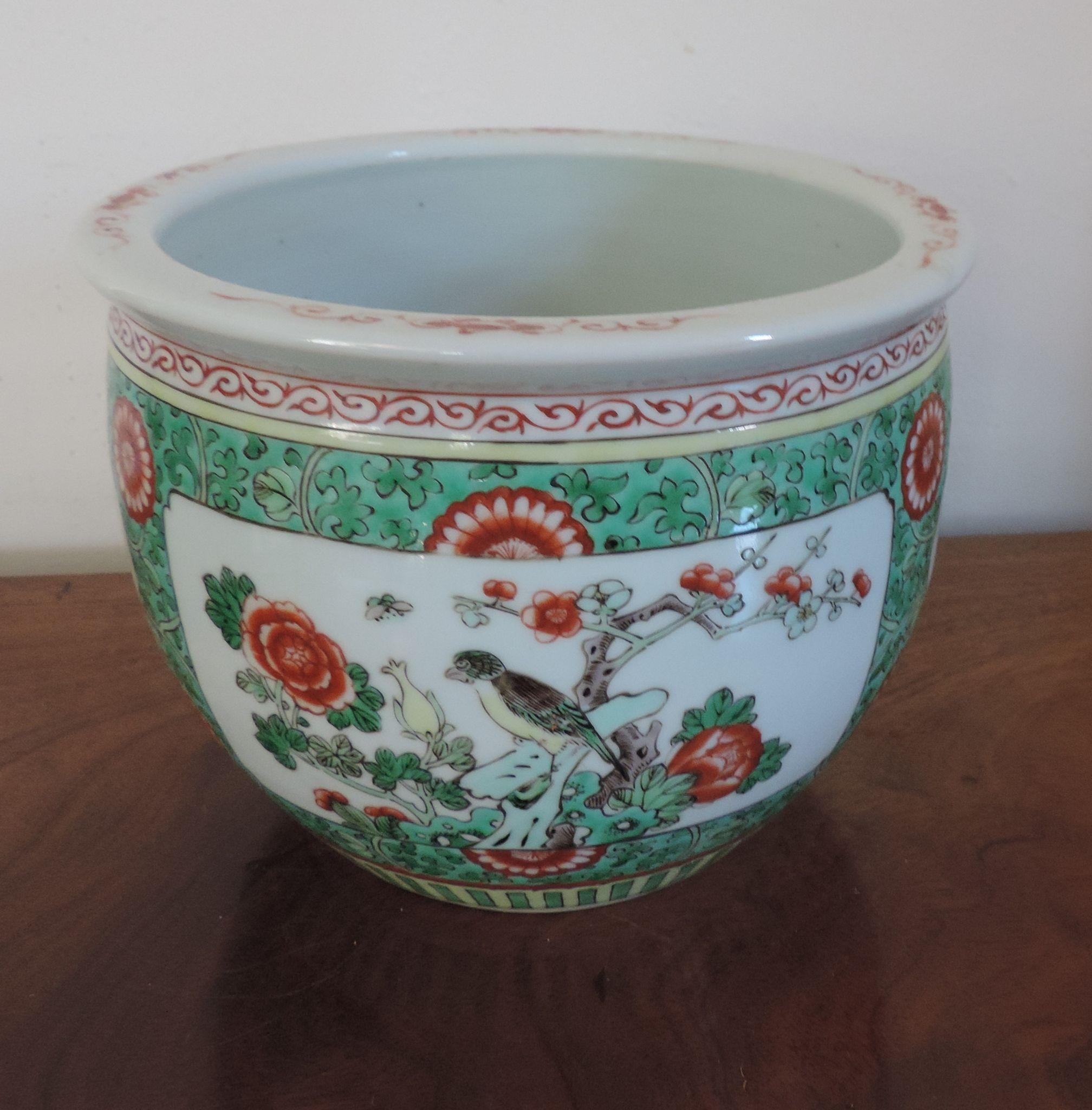 Antique 19th century chinese export porcelain famille for Chinese fish bowl